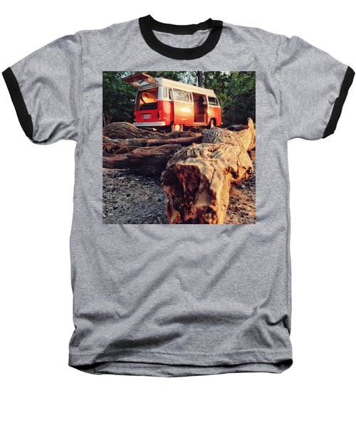 Alani By The River Baseball T-Shirt by Andrew Weills