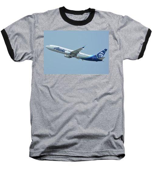 Alaska Boeing 737-890 N563as Los Angeles International Airport May 3 2016 Baseball T-Shirt