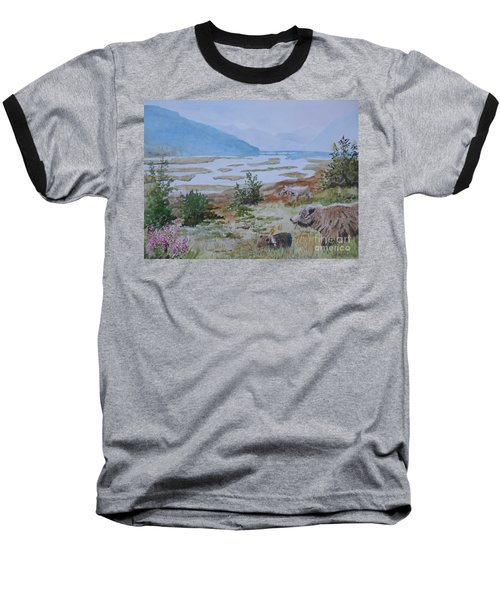 Alaska - Denali 2 Baseball T-Shirt by Christine Lathrop