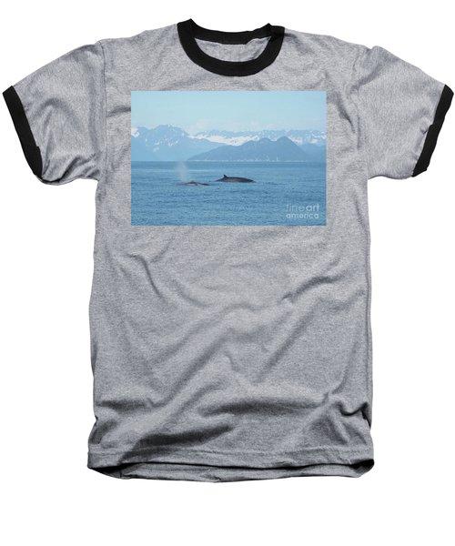 Alaska Finback Whales Baseball T-Shirt