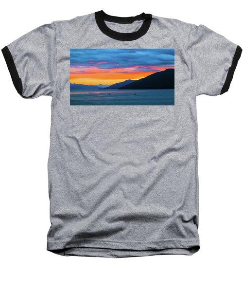 Alaska Fishermans Sunset Baseball T-Shirt