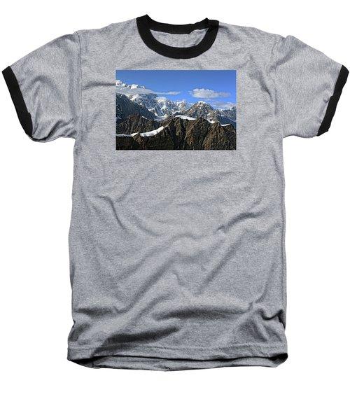 Alaska Mountain Range Baseball T-Shirt