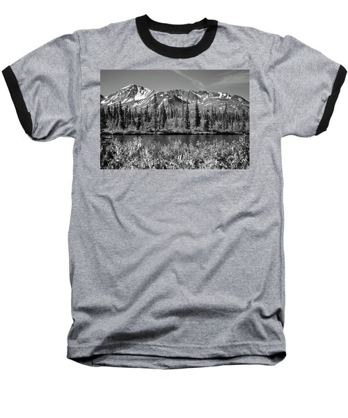 Alaska Mountains Baseball T-Shirt by Zawhaus Photography