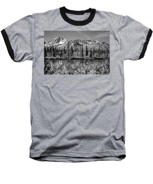 Alaska Mountains Baseball T-Shirt