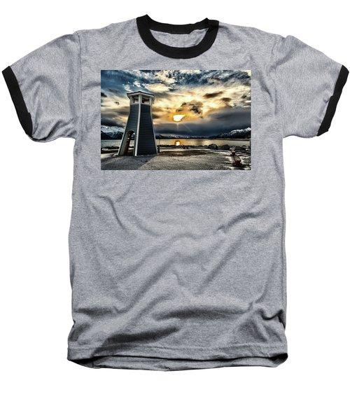 Baseball T-Shirt featuring the photograph Alaska Starts Here Seward Alaska by Michael Rogers
