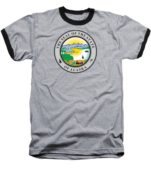Alaska State Seal Baseball T-Shirt by Movie Poster Prints