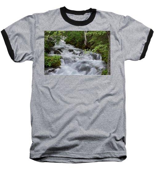 Alaska Waterfall Picture  Baseball T-Shirt