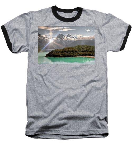 Alaskan Mountain Reflection Baseball T-Shirt