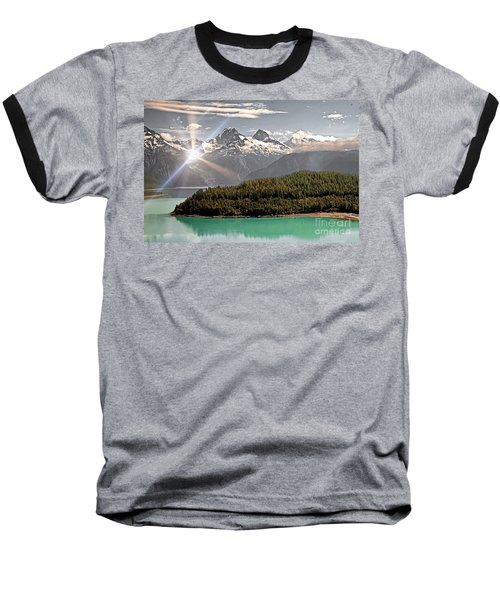Alaskan Mountain Reflection Baseball T-Shirt