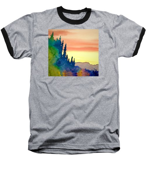 Alaskan Sunset Baseball T-Shirt by Jan Amiss Photography