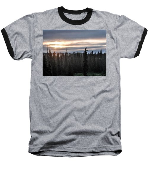 Alaskan Sunset Sunrise Baseball T-Shirt