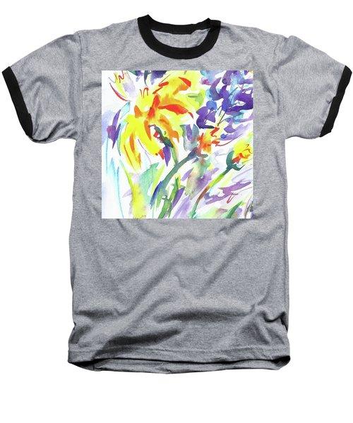 Alaskan Wildflowers Baseball T-Shirt