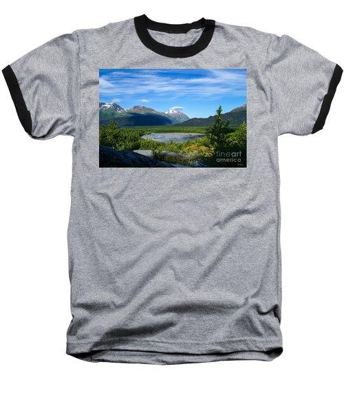 Alaska's Exit Glacier Valley Baseball T-Shirt