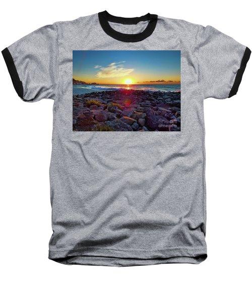 Alassio Sunset Baseball T-Shirt by Karen Lewis
