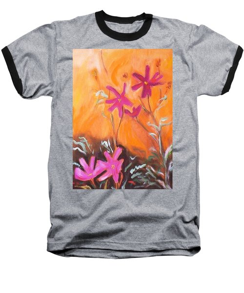 Baseball T-Shirt featuring the painting Alba Daisies by Winsome Gunning