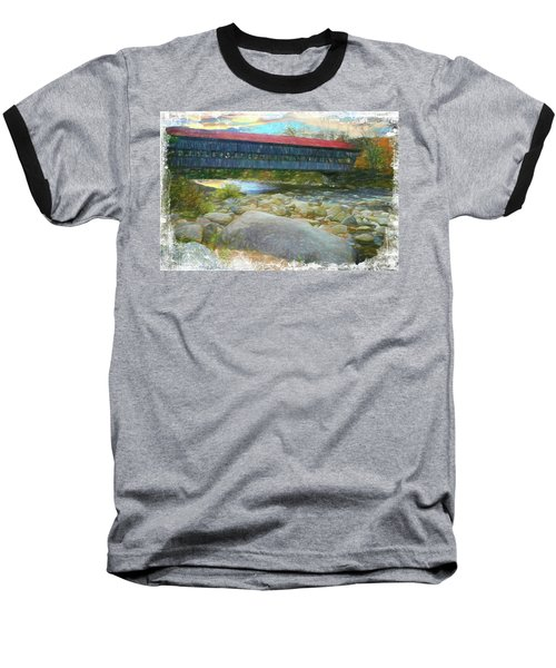 Albany Covered Bridge Nh. Baseball T-Shirt