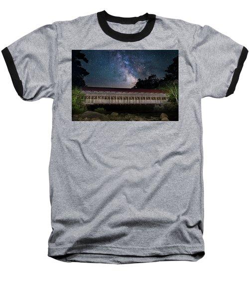 Albany Covered Bridge Under The Milky Way Baseball T-Shirt