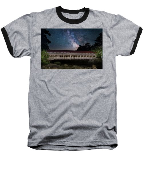 Albany Covered Bridge Under The Milky Way Baseball T-Shirt