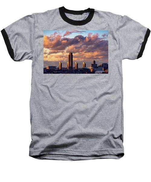 Albany Sunset Skyline Baseball T-Shirt