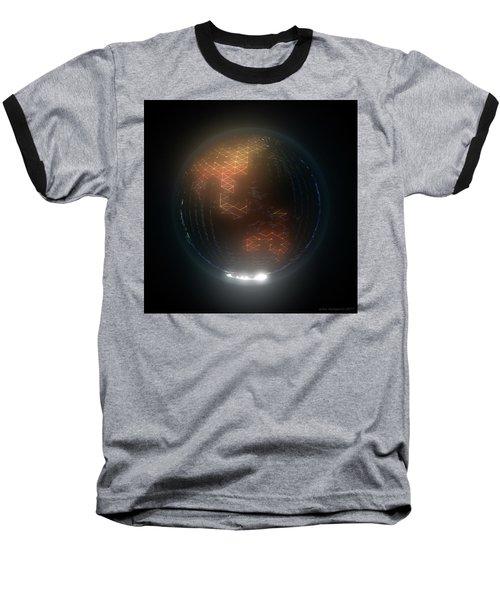 Albedo - Asia And Australasia By Night Baseball T-Shirt