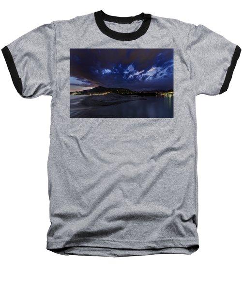 Albenga Alassio Coast Sunset With Clouds... Baseball T-Shirt