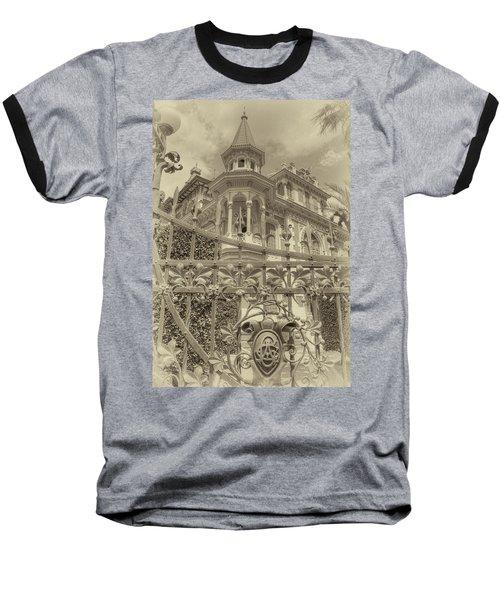 Albert Chamas Villa Baseball T-Shirt by Nigel Fletcher-Jones