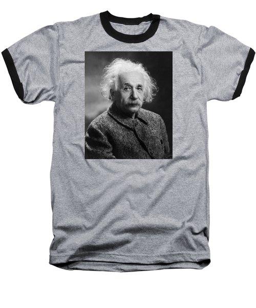 Albert Einstein Baseball T-Shirt by Oren Jack Turner