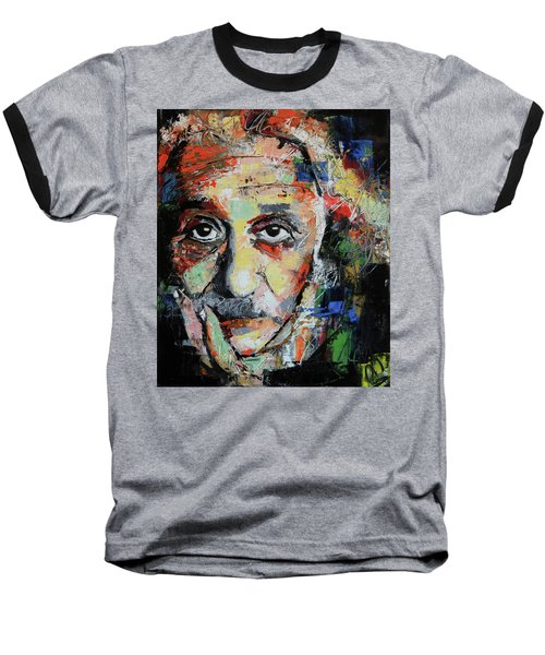 Albert Einstein Baseball T-Shirt by Richard Day
