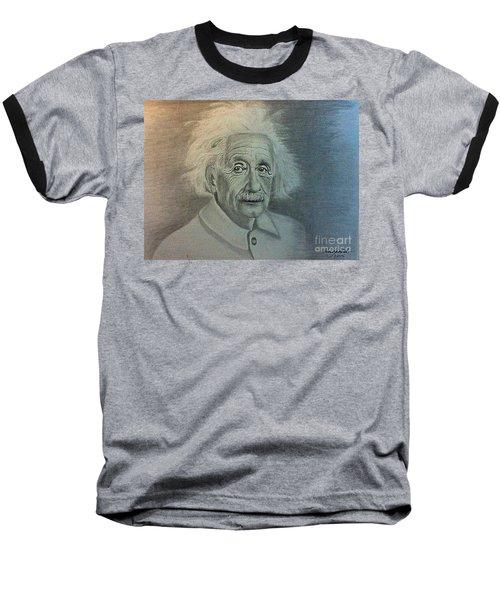 Albert Einstein Portrait Baseball T-Shirt