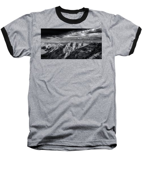 Baseball T-Shirt featuring the photograph Alberta Badlands by Wayne Sherriff