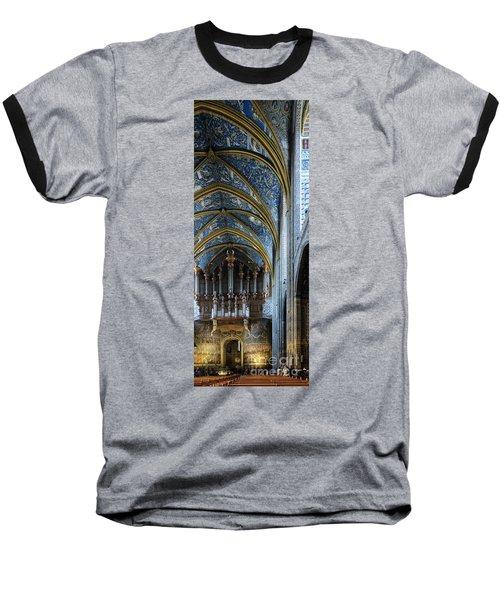 Albi Cathedral Nave Baseball T-Shirt