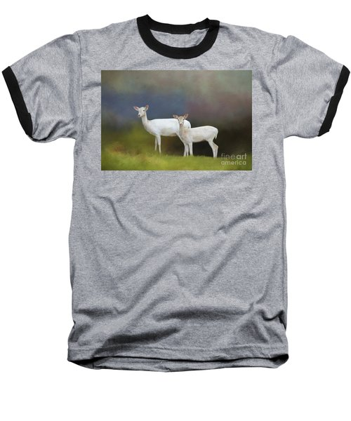 Albino Deer Baseball T-Shirt
