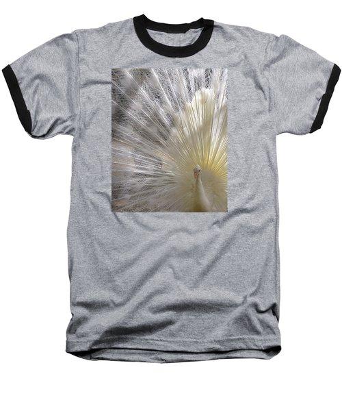 Pure White Peacock Baseball T-Shirt