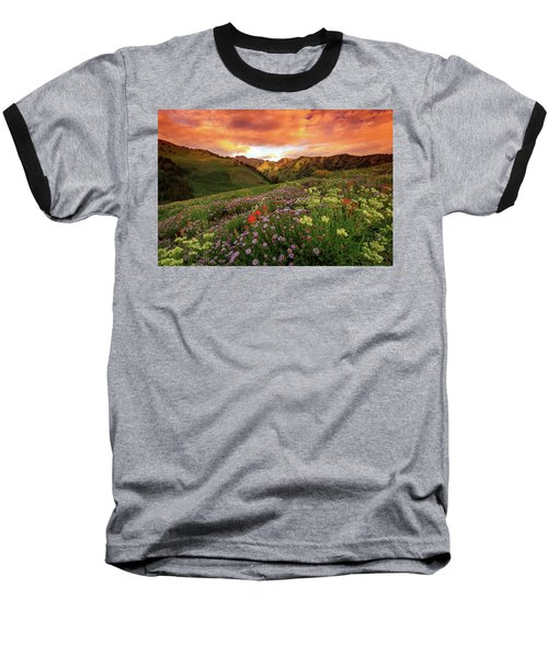 Albion Basin Golden Sunrise Baseball T-Shirt