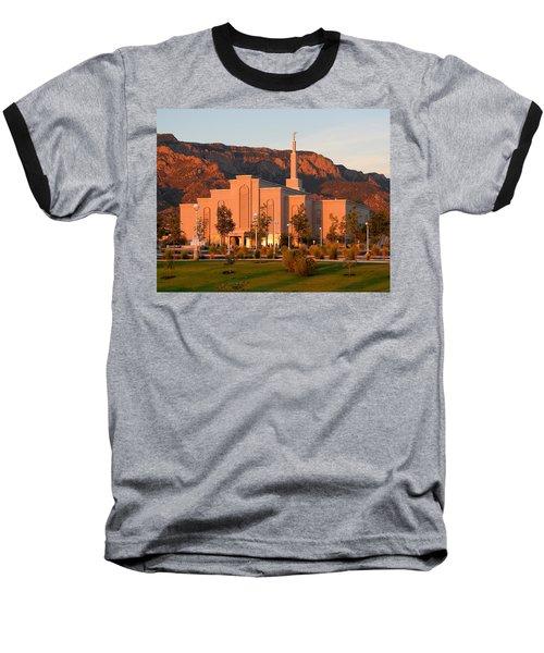 Albuquerque Lds Temple At Sunset 1 Baseball T-Shirt