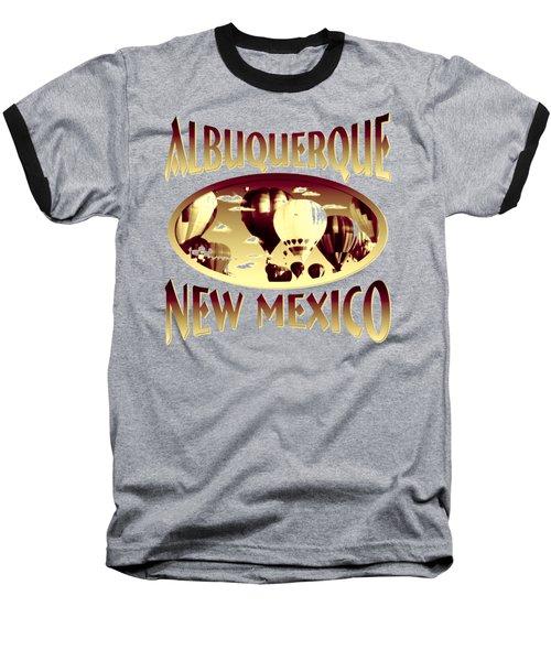 Albuquerque New Mexico Design Baseball T-Shirt
