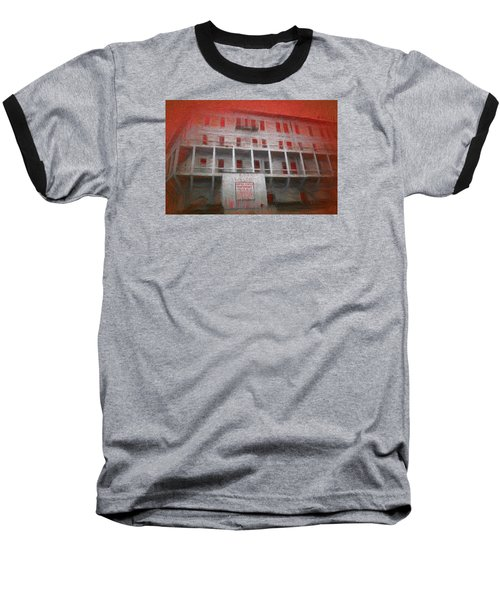 Baseball T-Shirt featuring the painting Alcatraz Federal Penitentiary by Michael Cleere