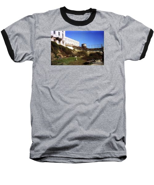 Alcatraz Water Tank Prison  Baseball T-Shirt by Ted Pollard