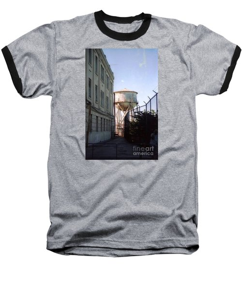 Alcatraz Water Tank  Baseball T-Shirt by Ted Pollard