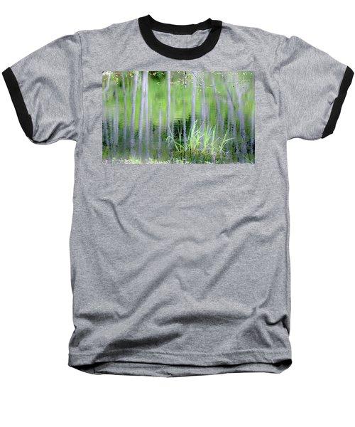 Alder Reflections Baseball T-Shirt by Sheila Ping