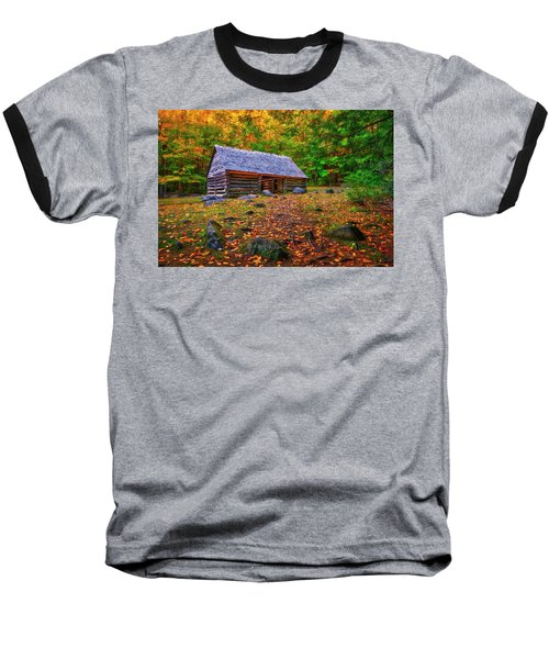 Alex Cole Cabin At Jim Bales Place, Roaring Fork Motor Trail In The Smoky Mountains Tennessee Baseball T-Shirt