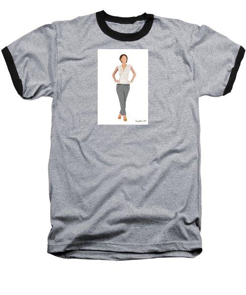 Baseball T-Shirt featuring the digital art Alex by Nancy Levan