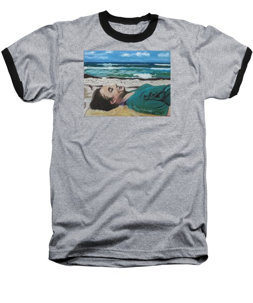 Granddaughter Alex At A Gulf Coast Beach, Florida Baseball T-Shirt
