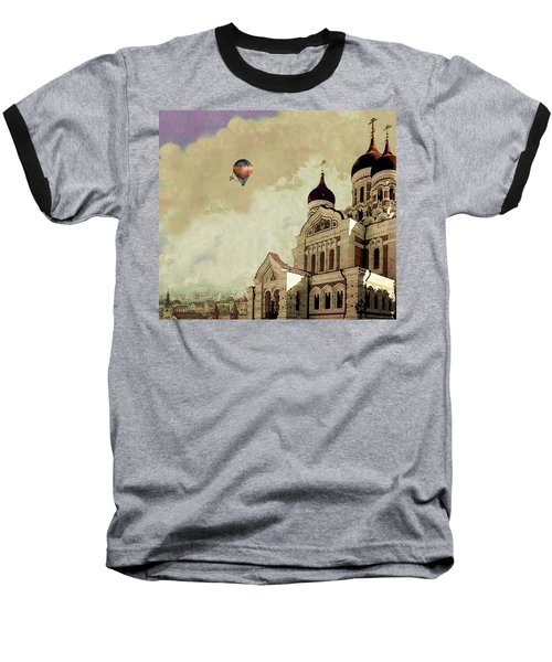 Alexander Nevsky Cathedral In Tallin, Estonia, My Memory. Baseball T-Shirt