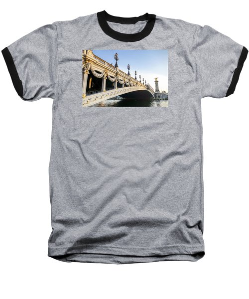 Alexandre IIi Bridge In Paris France Early Morning Baseball T-Shirt by Perry Van Munster