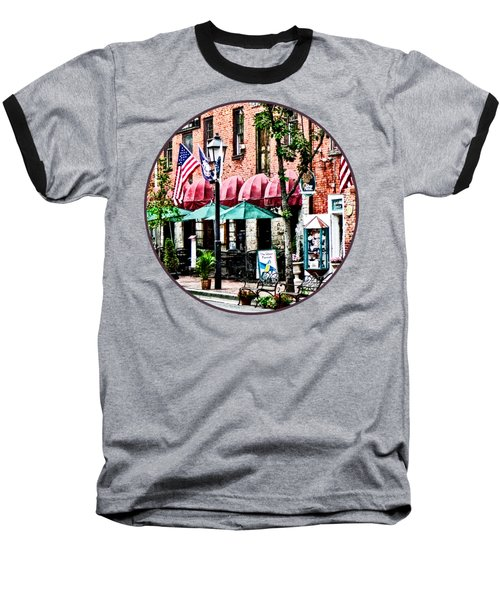 Alexandria Street With Cafe Baseball T-Shirt