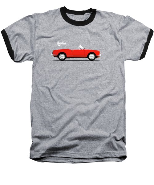 Alfa Giulia Spider 1964 Baseball T-Shirt by Mark Rogan