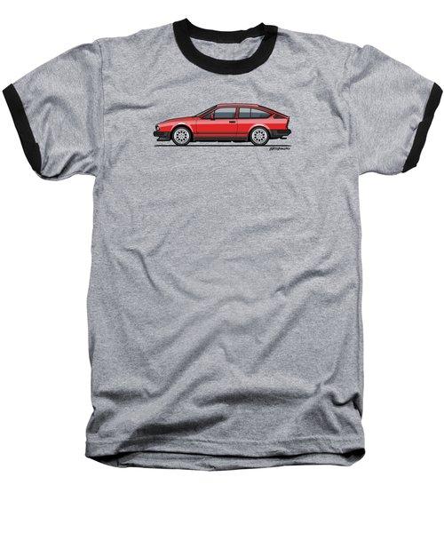 Alfa Romeo Gtv6 Red Baseball T-Shirt by Monkey Crisis On Mars