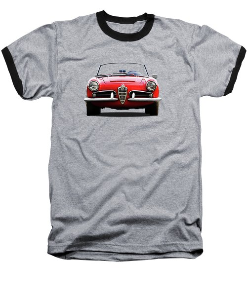 Alfa Romeo Spider Baseball T-Shirt by Mark Rogan