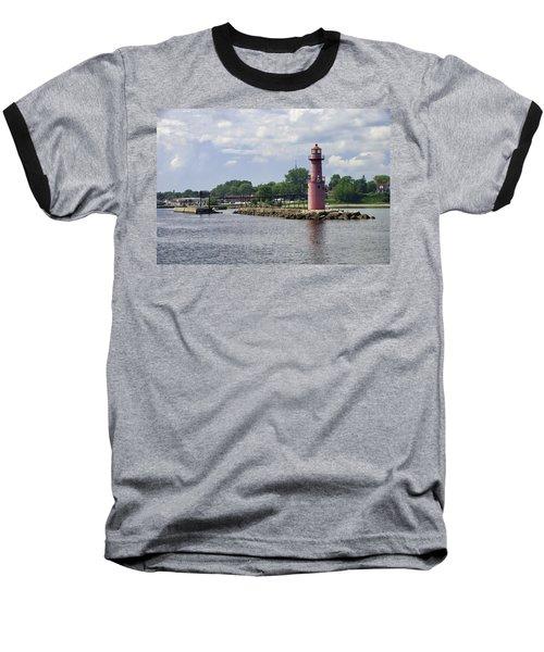Algoma Pierhead Light Baseball T-Shirt